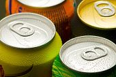 Cans Of Cool Soft Drink ( Top View ) poster