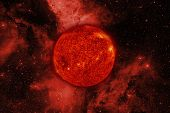 Solar System. Sun. Elements Of This Image Furnished By Nasa poster
