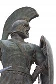 pic of sparta  - Leonidas statue at Sparta city in Greece - JPG