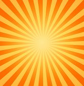 picture of heatwave  - large yellow and orange image of the hot summer sun beating down - JPG