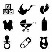 Постер, плакат: Детские предметы Икона Set