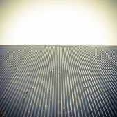 Roof And Clear Sky Abstract Background.