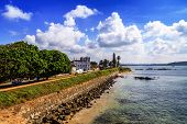 Lighthouse In Fort Gale At Sri Lanka Seascape poster
