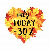 Autumn Sale Only Today -30% Banner poster