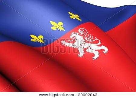 Flag Of Lyon, France.