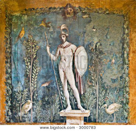 Mars Fresco In House Of Venus, Pompeii