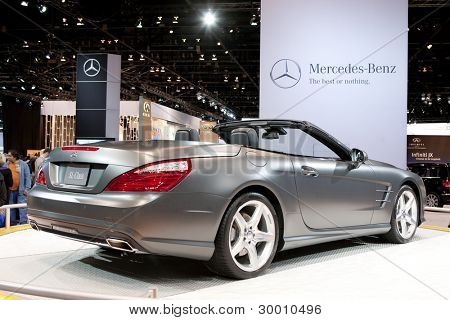 CHICAGO - FEB 12: The 2013 Mercedes SL AMG on display at the 2012 Chicago Auto Show. February 12, 2012 in Chicago, Illinois.