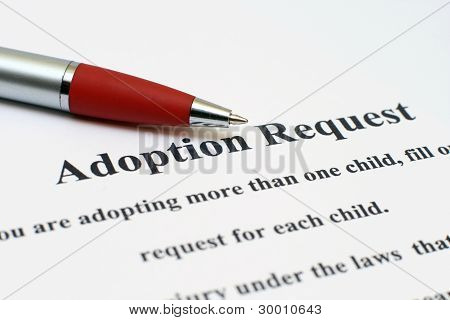 Solicitud de adopción