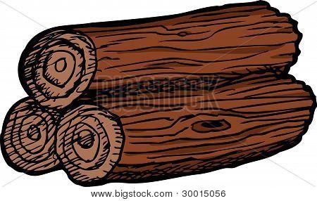 Pile Of Three Logs