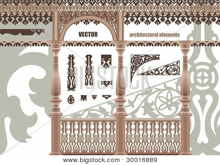 Vector Carved Architectural Elements