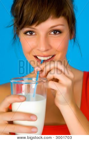 Woman, Girl With Milk