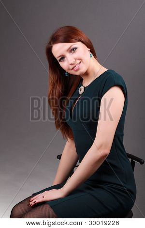 portrait of successful elegant businesswoman