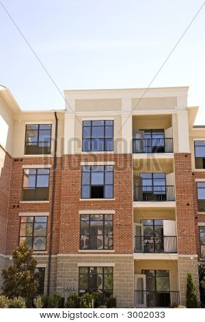 Brick And Stucco Apartments