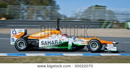 Paul Di Resta F1 Test Drive Jerez 2012
