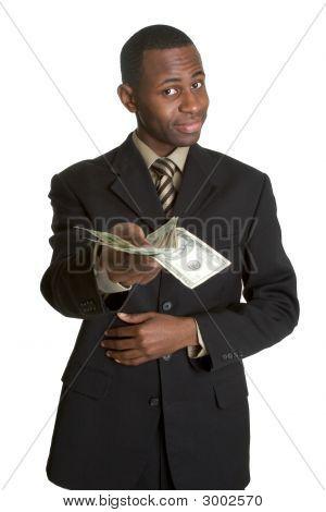 Black Businessman With Money