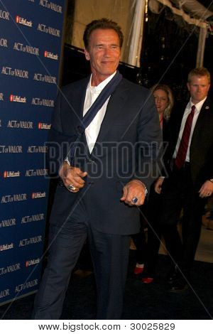 LOS ANGELES - FEB 13:  Arnold Schwarzenegger arrives at the