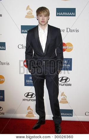 LOS ANGELES - FEB 11:  Chord Overstreet arrives at the Pre-Grammy Party hosted by Clive Davis at the Beverly Hilton Hotel on February 11, 2012 in Beverly Hills, CA