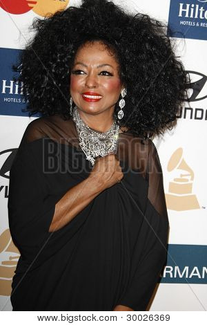 LOS ANGELES - FEB 11:  Diana Ross arrives at the Pre-Grammy Party hosted by Clive Davis at the Beverly Hilton Hotel on February 11, 2012 in Beverly Hills, CA