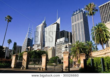 Tall office buildings of Sydney, Australia.