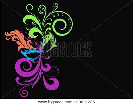 Mardi Gras Masquerade Swirl Abstract Background