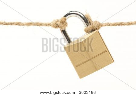 Poor Security Lock Isolated
