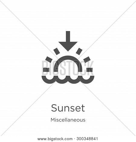 poster of Sunset Icon Isolated On White Background From Miscellaneous Collection. Sunset Icon Trendy And Moder