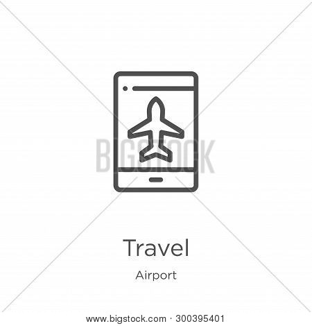 poster of Travel Icon Isolated On White Background From Airport Collection. Travel Icon Trendy And Modern Trav