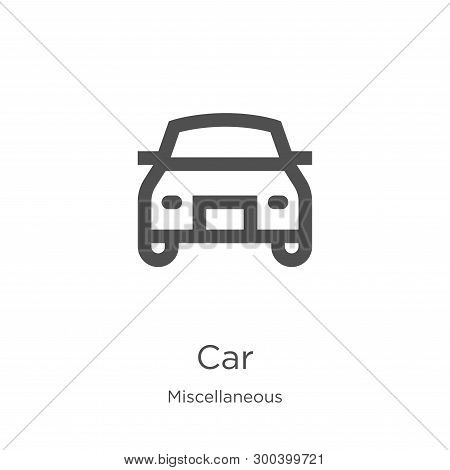 poster of Car Icon Isolated On White Background From Miscellaneous Collection. Car Icon Trendy And Modern Car
