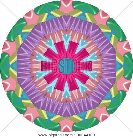 colorful geometric mandala