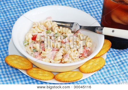 Ham Salad And Crackers