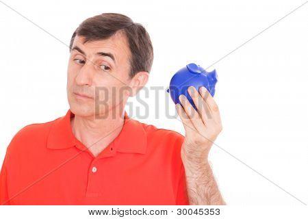 listen piggy bank empty