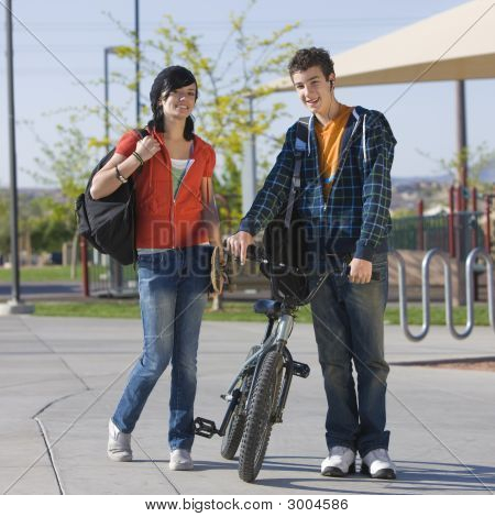 Teen Couple At Park