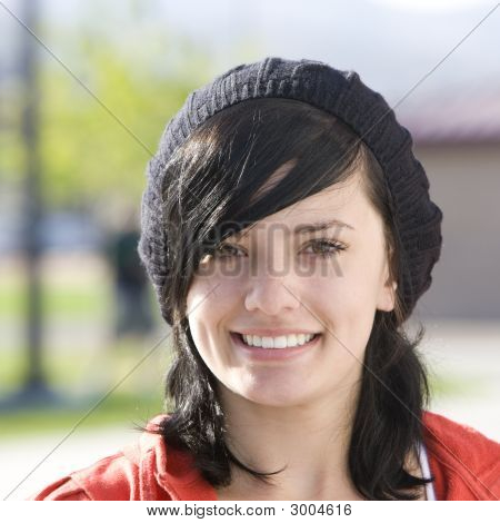 Happy Teen With Cap