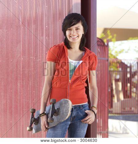Teen Skater Girl