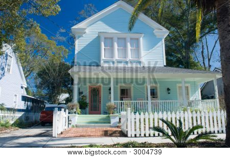 Pastel Cottage Style Florida Home