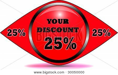 Web Discount Banner Or Label