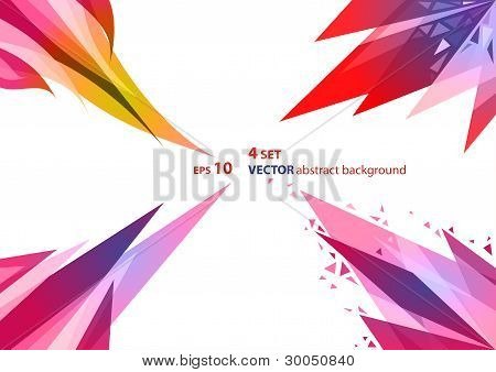 4 Sets Abstract Geometric Background