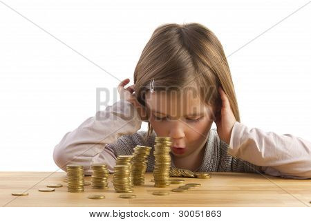 Girl Is Amazed About Money