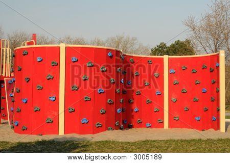 Climbing Wall On Children's Playground