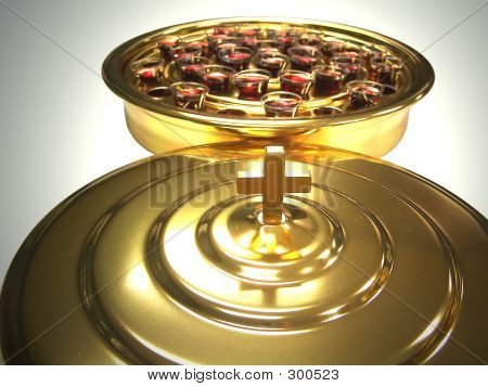 Communion Tray And Lid