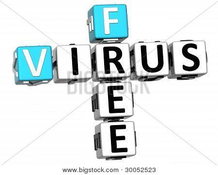 3D Virus Free Crossword