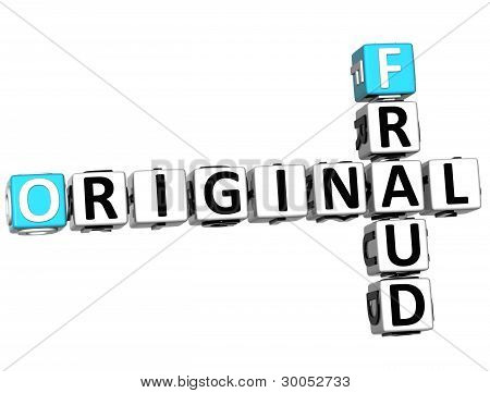 3D Original Fraud Crossword