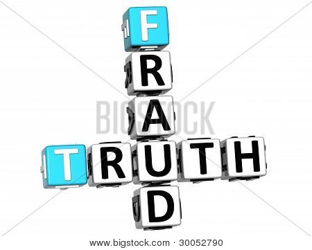 3D Truth Fraud Crossword