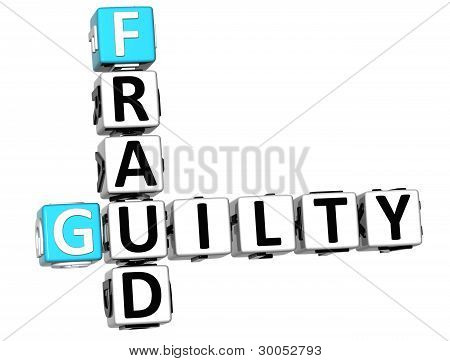 3D Guilty Fraud Crossword