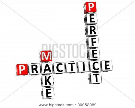 3D Practice Make Perfect Crossword