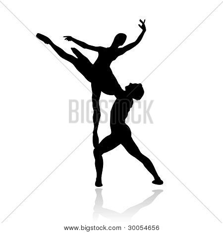 classic dancers silhouette