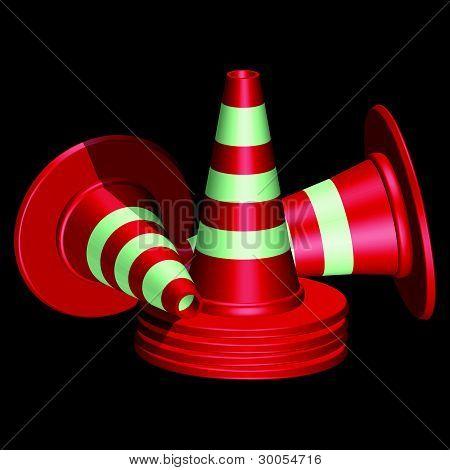 Red Traffic Cones
