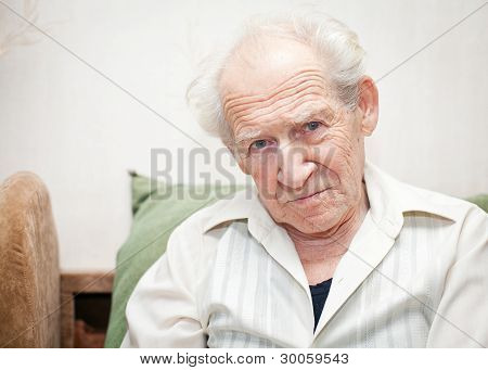 Displeased Senior Man
