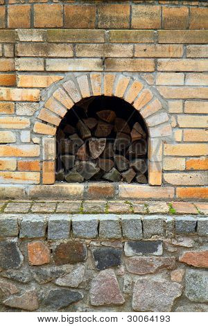 Old Fireplace Background