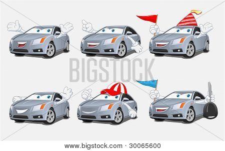 Funny Car Mascot